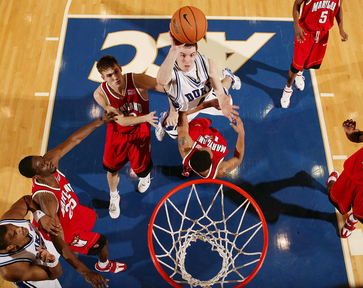J.J. Redick (2002-2006): Perhaps no modern Duke player was as polarizing as Redick. College basketball fans' feelings about Redick reflected their feelings about Duke: If they loved the school, they loved the player; if they disliked the school, they disliked Redick. But there's no denying what he accomplished on the court. He left Duke as a two-time All-America, a national player of the year and the ACC's alltime leading scorer. His No. 4 jersey was retired the year after he graduated.