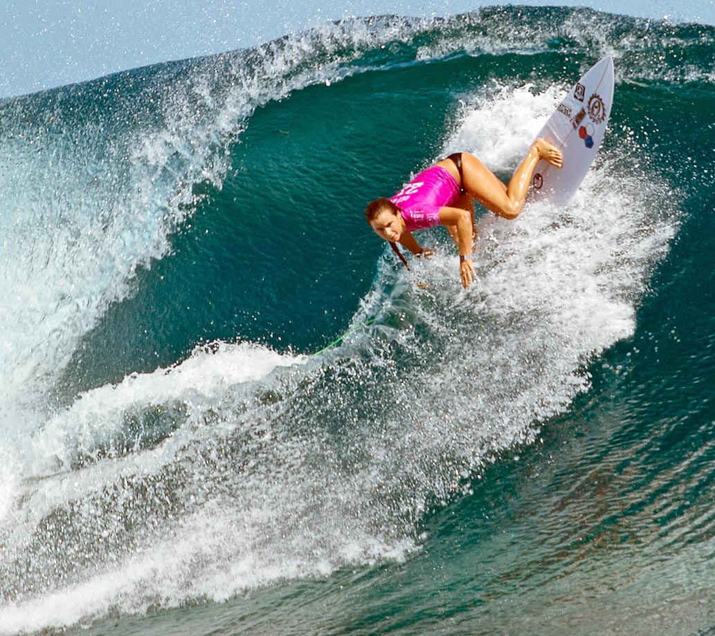 Joanne Defay won this round in Tavarua, Fiji.