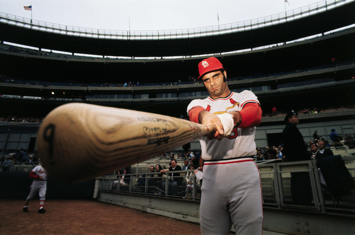 Torre poses with bat after being named the 1971 National League MVP. (Corbis)