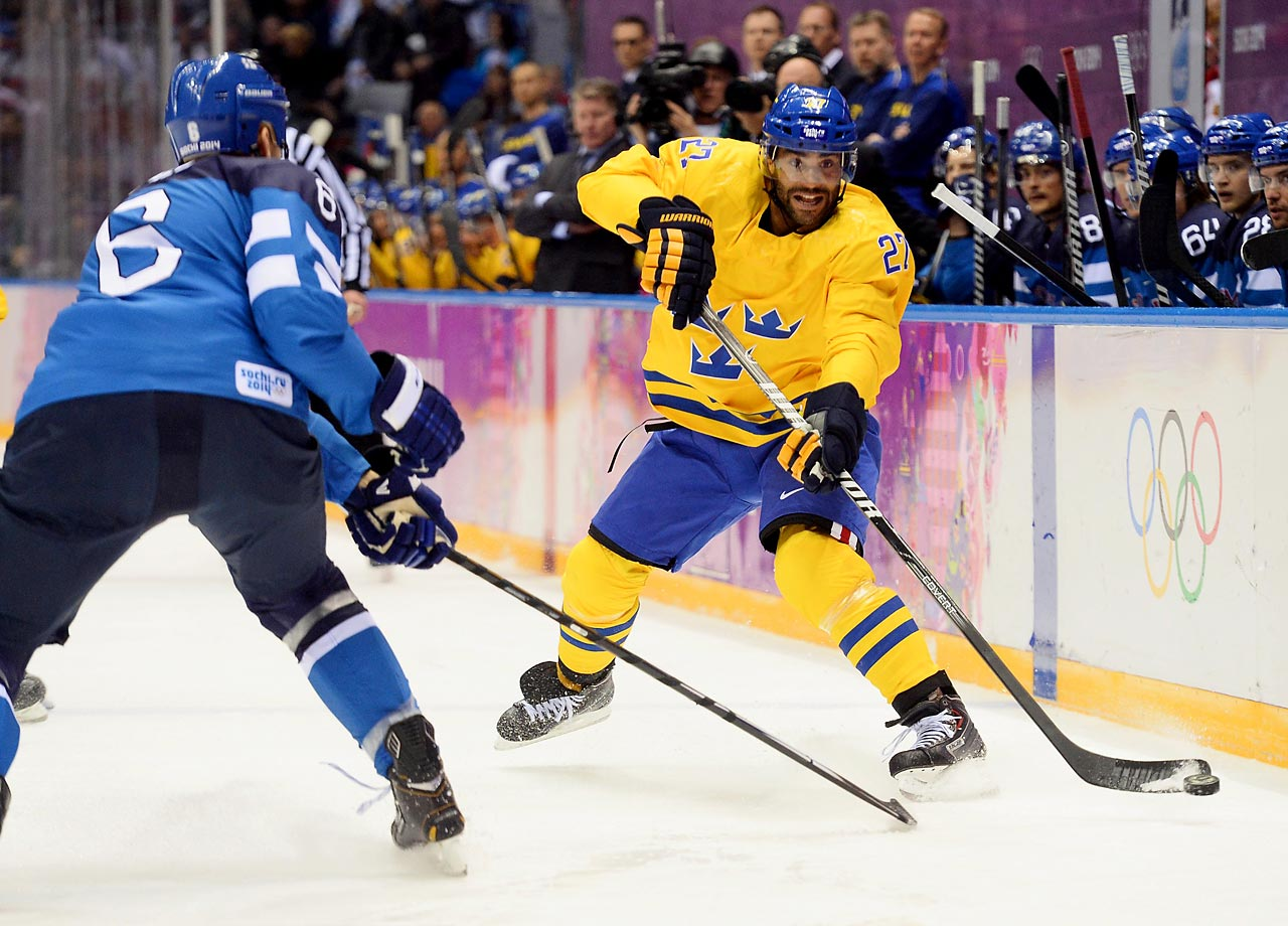 Johnny Oduya (pictured) and the Swedes improved to 7-2-3 in Olympic matchups against Finland and can join Canada as the only country to win two gold medals since NHL players began participating in the Olympics at the Nagano Games. (AP)