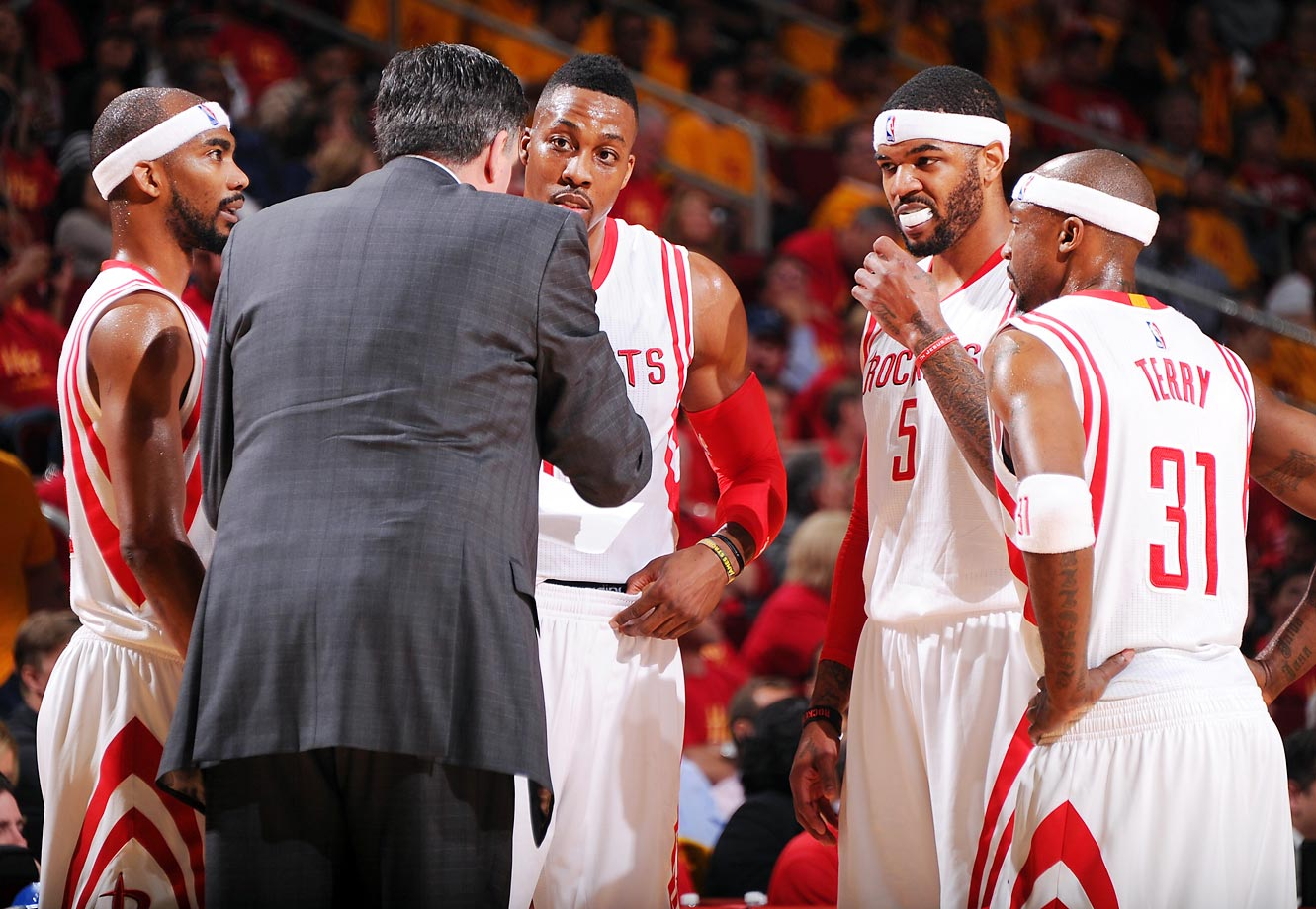 Corey Brewer, Dwight Howard, Josh Smith and Jason Terry