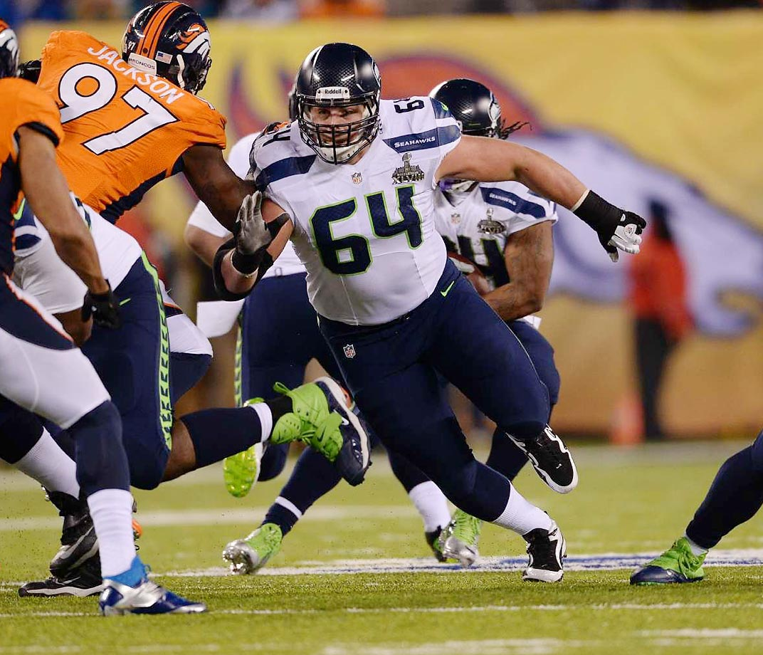 Justin Ross Sweezy was selected by the Seahawks in the 7th round of the 2012 NFL Draft out of North Carolina State, and has been a pleasant surprise for head coach Pete Carroll over the last two seasons.