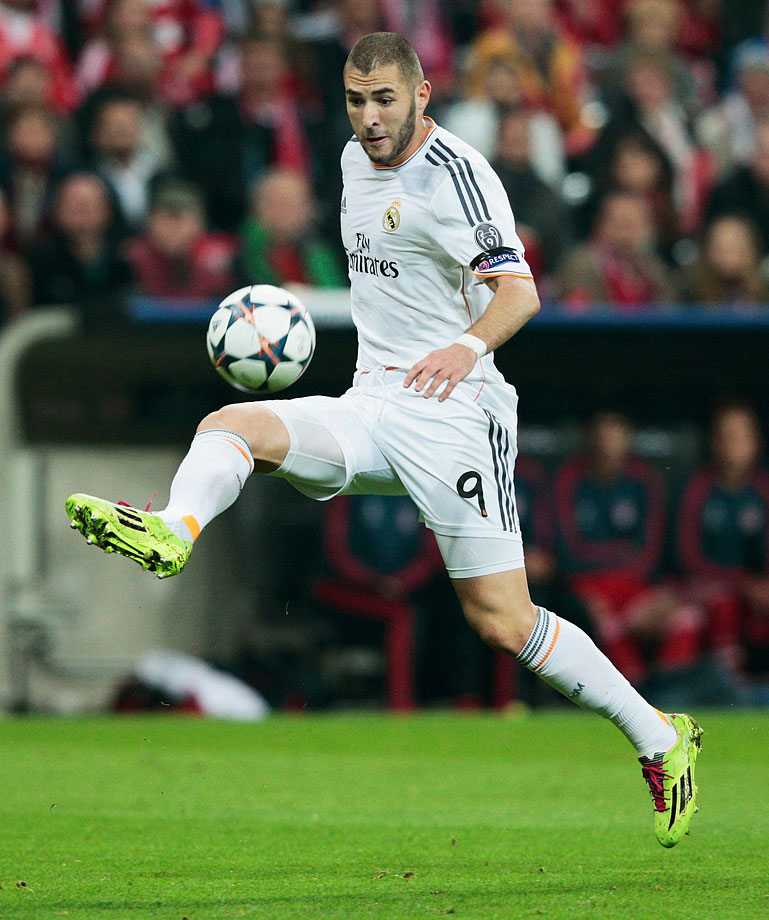 The 26-year-old Real Madrid forward helped the Spanish side to a Champions League title, scoring 24 goals in all competitions, including five on Europe's biggest stage. With compatriot Franck Ribery ruled out for the World Cup with a back injury, the onus falls even more on Benzema to lead Les Bleus' attack.