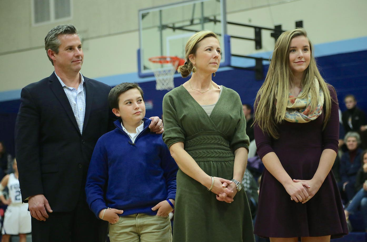 Kate's parents, Patrick and Martha, and brother Chase were on hand to watch her be honored in front of her school and community