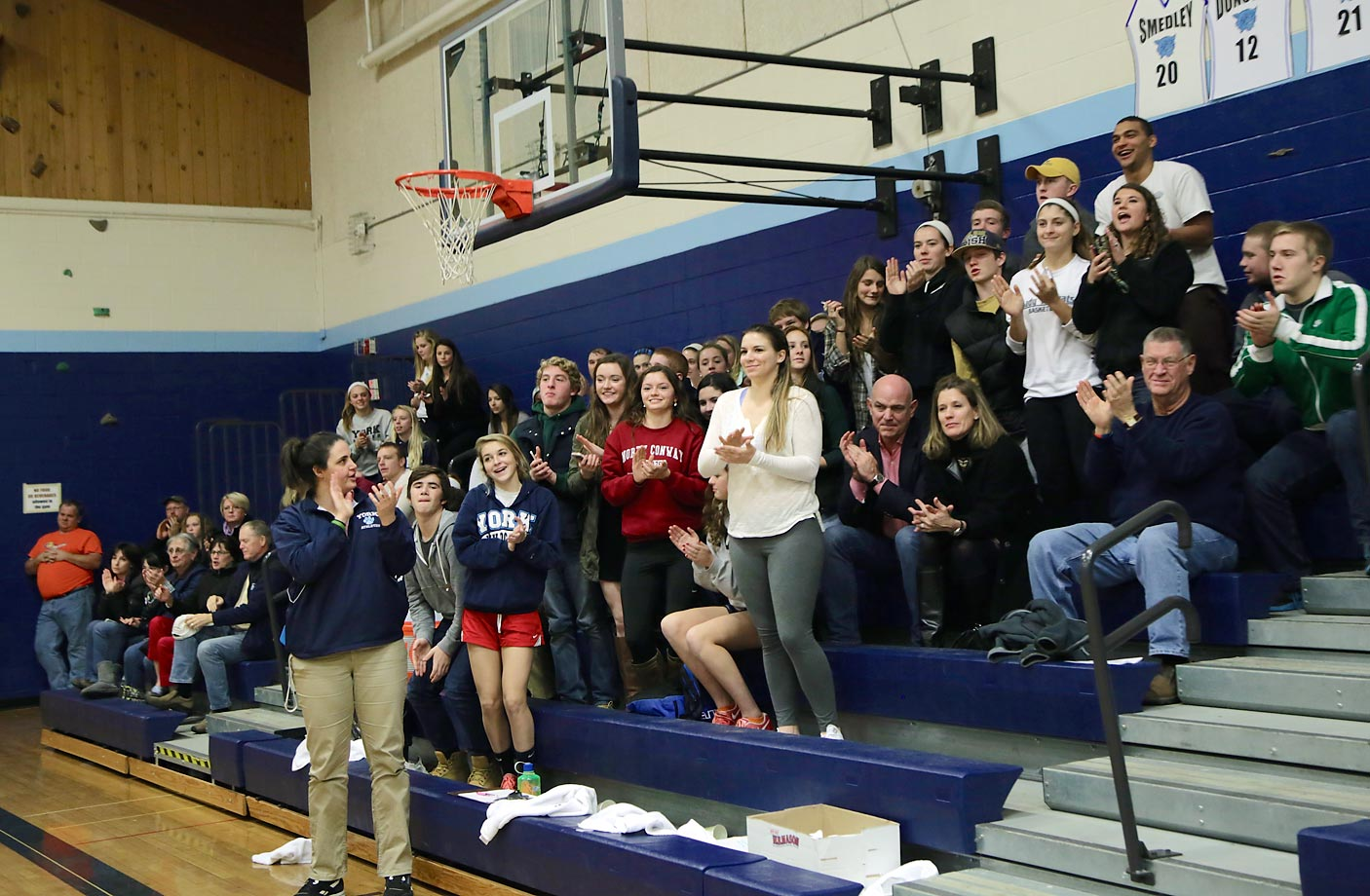 York High students give Kate a standing ovation.