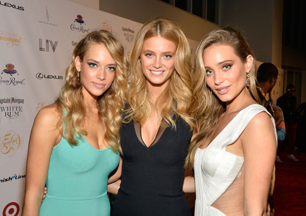 Hannah Ferguson, Kate Bock and Hannah Davis :: Getty Images