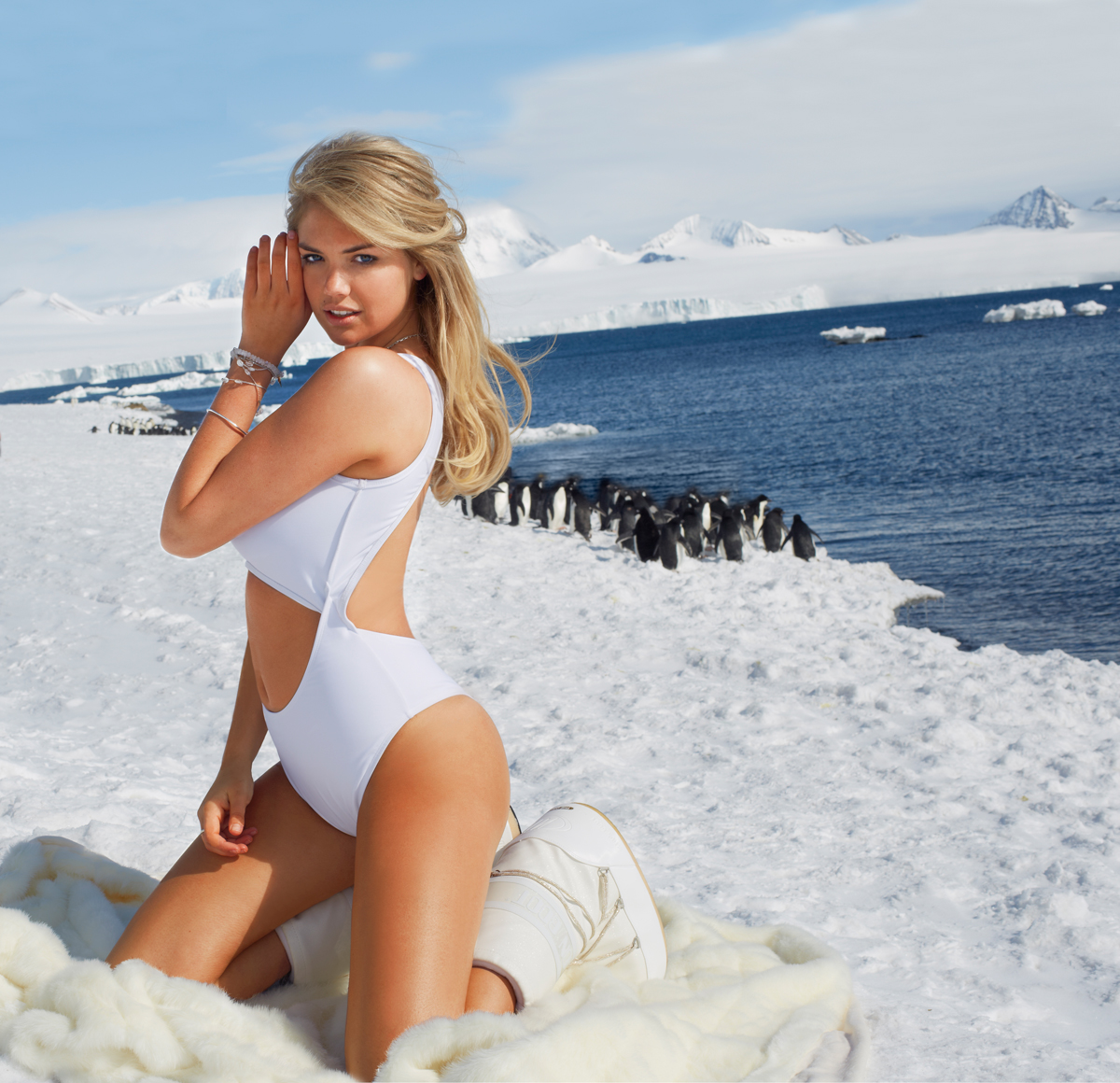 Kate Upton in Antarctica, SI Swimsuit 2013