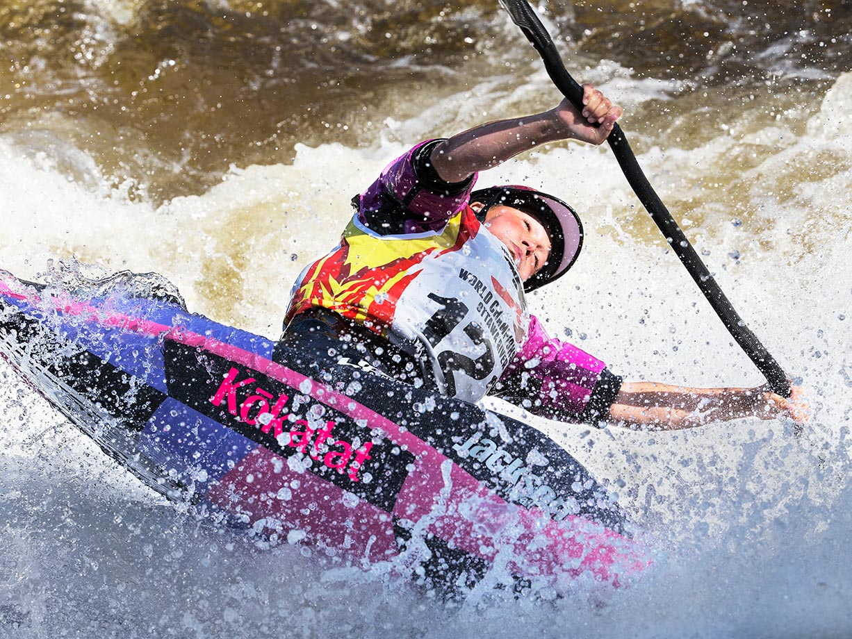 Emily Jackson wins her third World title in the Women's K1.