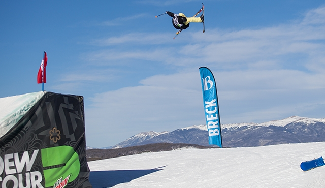 Keri Herman in the women's ski slopestyle finals.