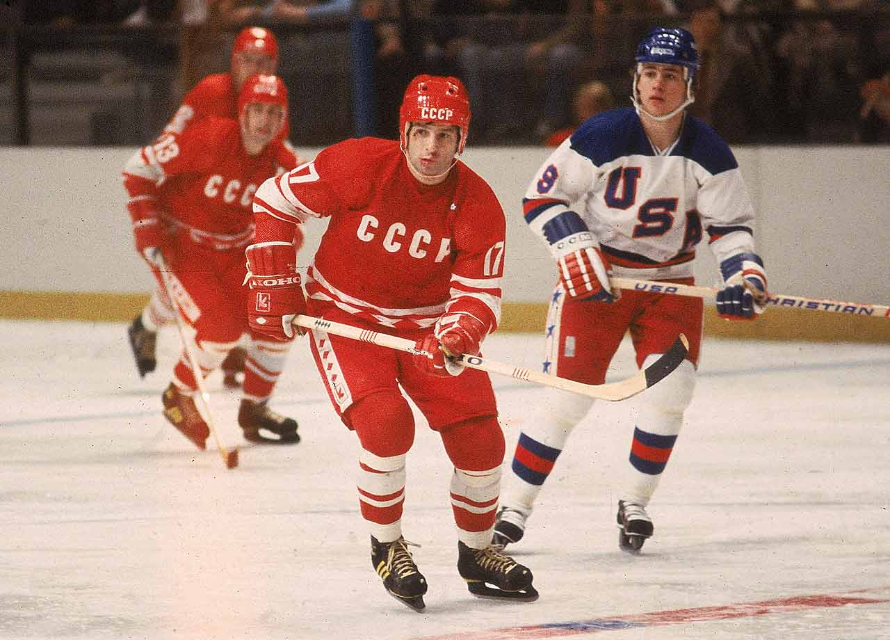 In the opener of the 1972 Summit Series, Team Canada was blindsided by the magical skills of Kharlamov, who scored two goals in the Soviet Union's 7-3 victory and was named the game's No. 1 star. The Canadians feared him so badly that Flyers center Bobby Clarke – captain of the Broad Street Bullies -- broke Kharlamov's ankle in Game 6 with a deliberate slash that changed the momentum of the series. Kharlamov played on eight world championship teams before he lost his life in a car accident at age 33. Today the world's best Russian player receives the Kharlamov Cup. -- Brian Cazeneuve