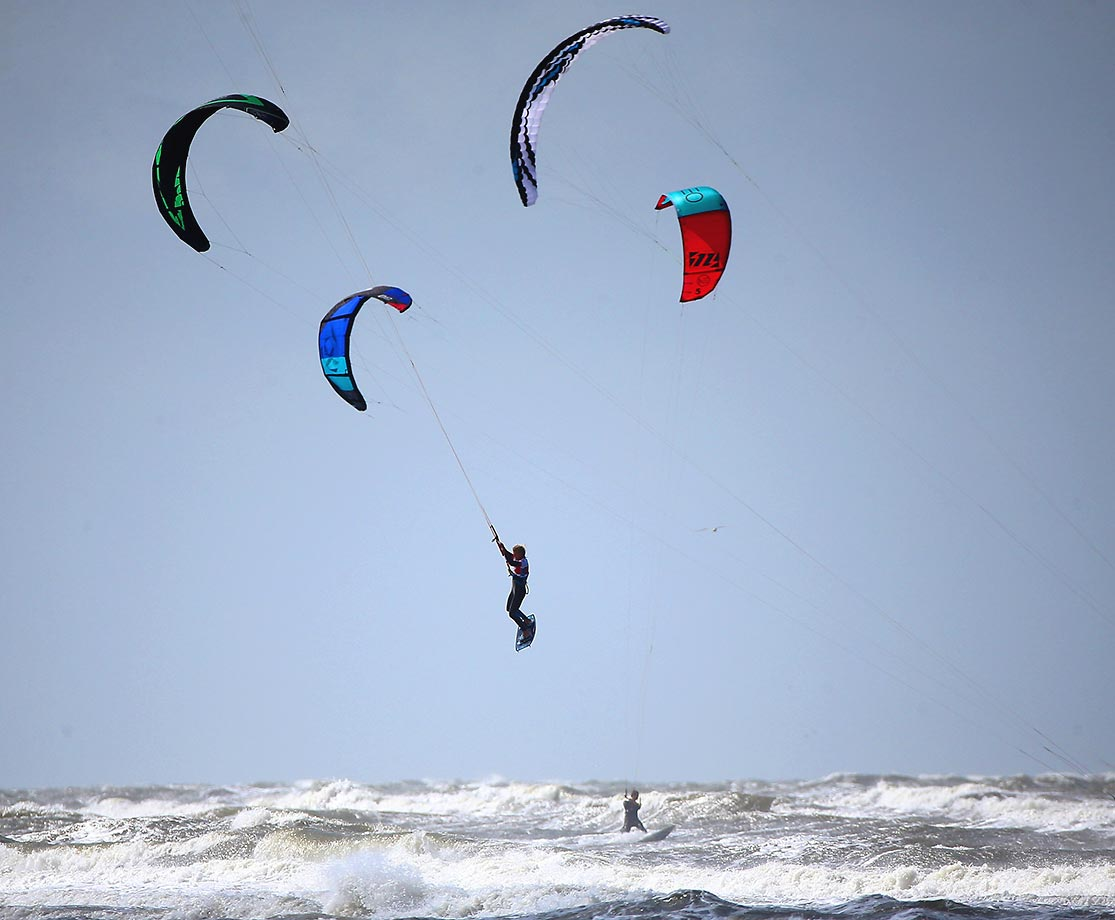The Pringles kite surf world cup, which took place in St. Peter-Ording, Germany.
