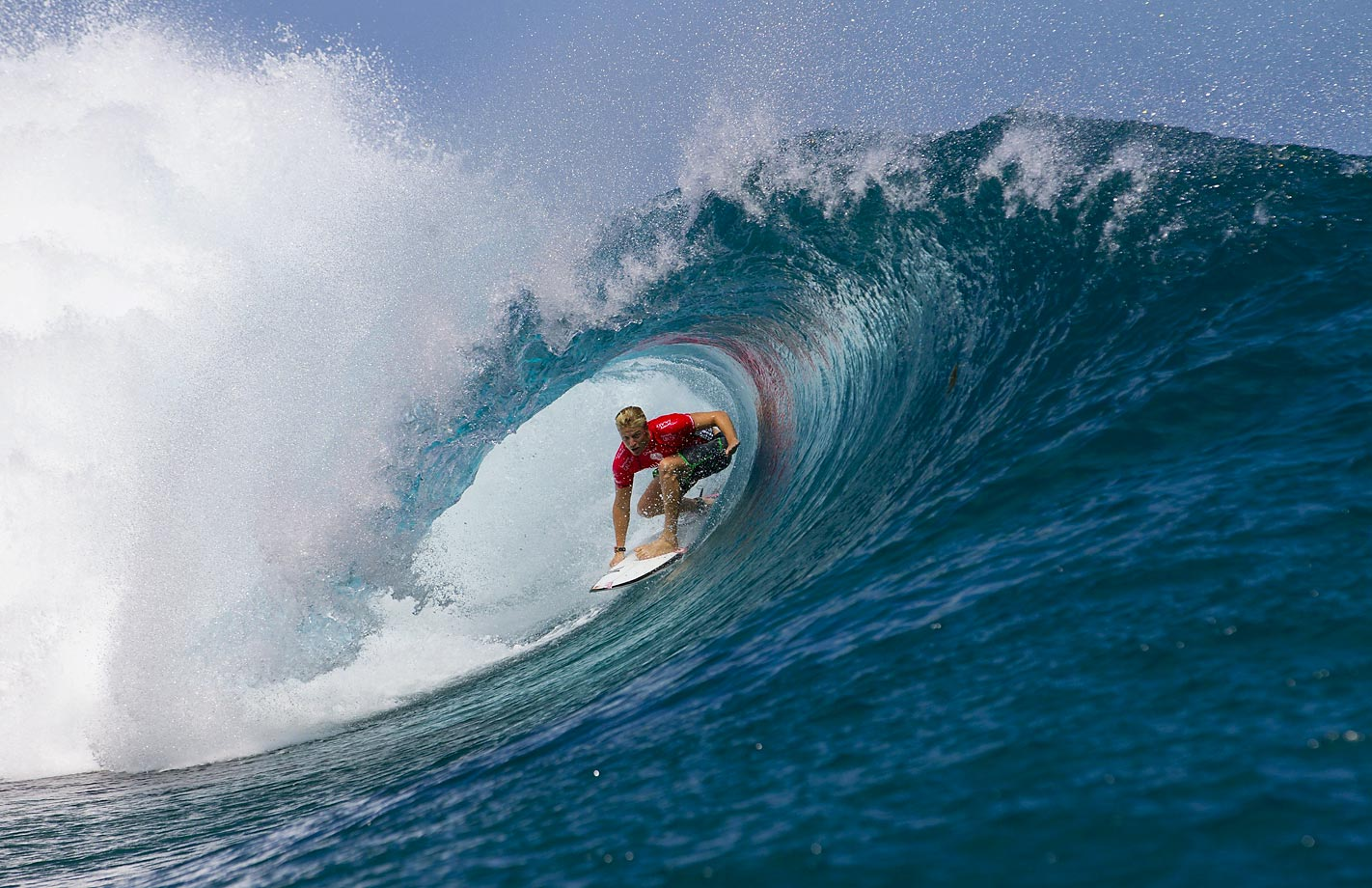 Kolohe Andino surfs to victory in Teahupo'o, French Polynesia on August 24.