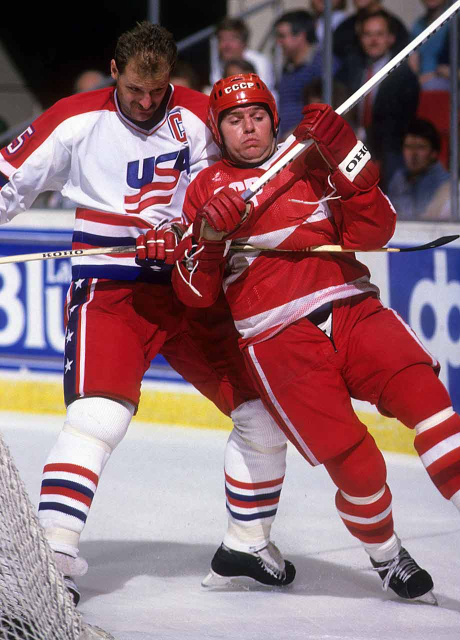 A winger on the famed KLM line with Igor Larionov and Sergei Makarov, the burly Krutov – aka, the Tank -- won two Olympic gold medals and six world titles. He had a heavy shot that was far more menacing than it looked, and that often fooled goaltenders. He scored 288 goals in 438 games in the Soviet League before embarking on an NHL career. He played one season with the Canucks before spending time in both the Swiss and the Swedish leagues. -- Brian Cazeneuve