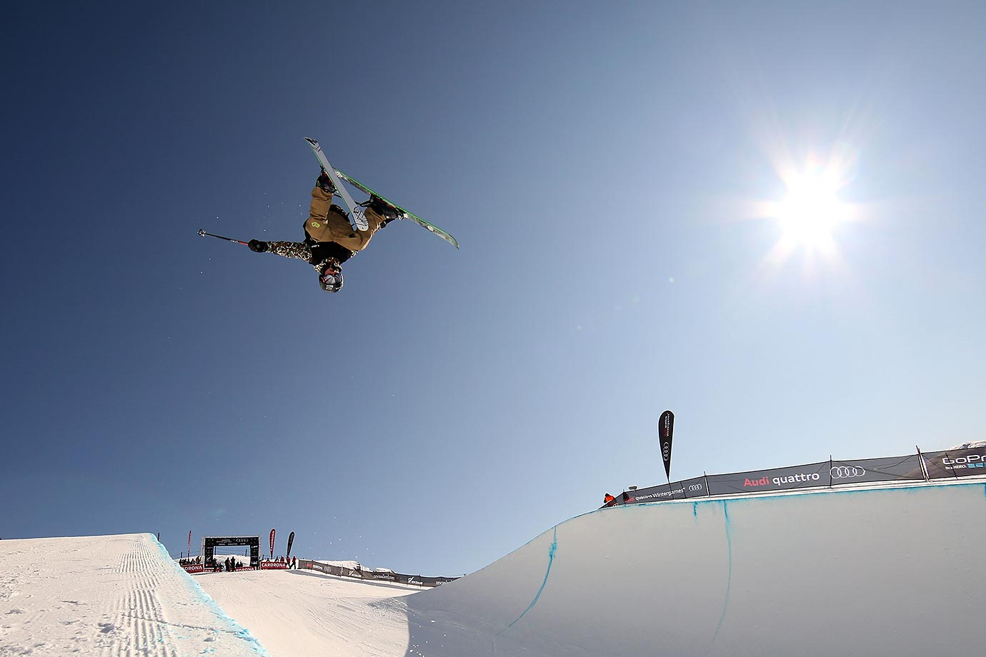 Kwang-jin Kim during the FIS Freestyle Ski World Cup Halfpipe qualifying during the Winter Games NZ at Cardrona Alpine Resort in Wanaka, New Zealand.