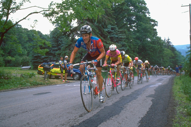 Lance Armstrong leads the way during Olympic trials in 1990.