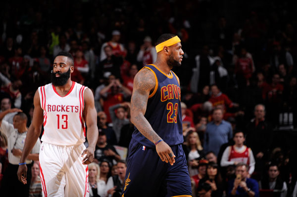 James Harden and LeBron James