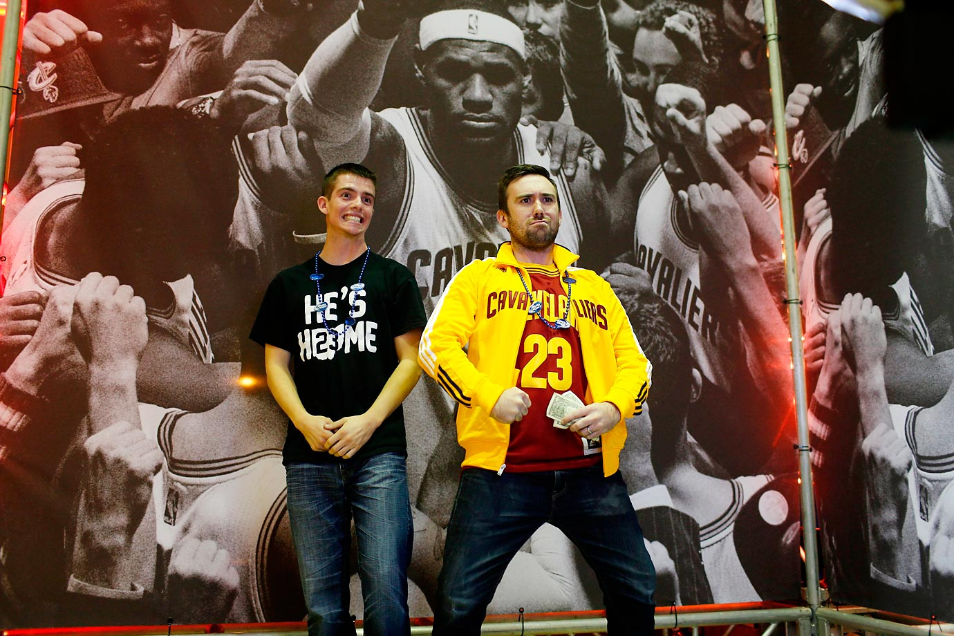 In honor of LeBron James' return to Cleveland, SI went behind the scenes at Quickens Loan Arena and downtown Cleveland to capture the excitement.