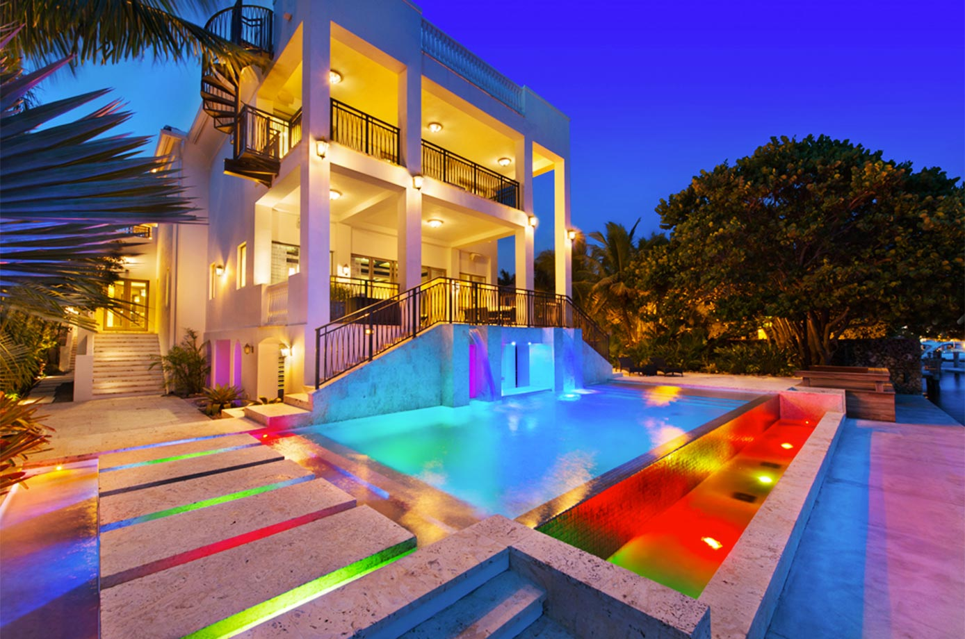 LeBron purchased this home in Miami for about $9 million in 2010.