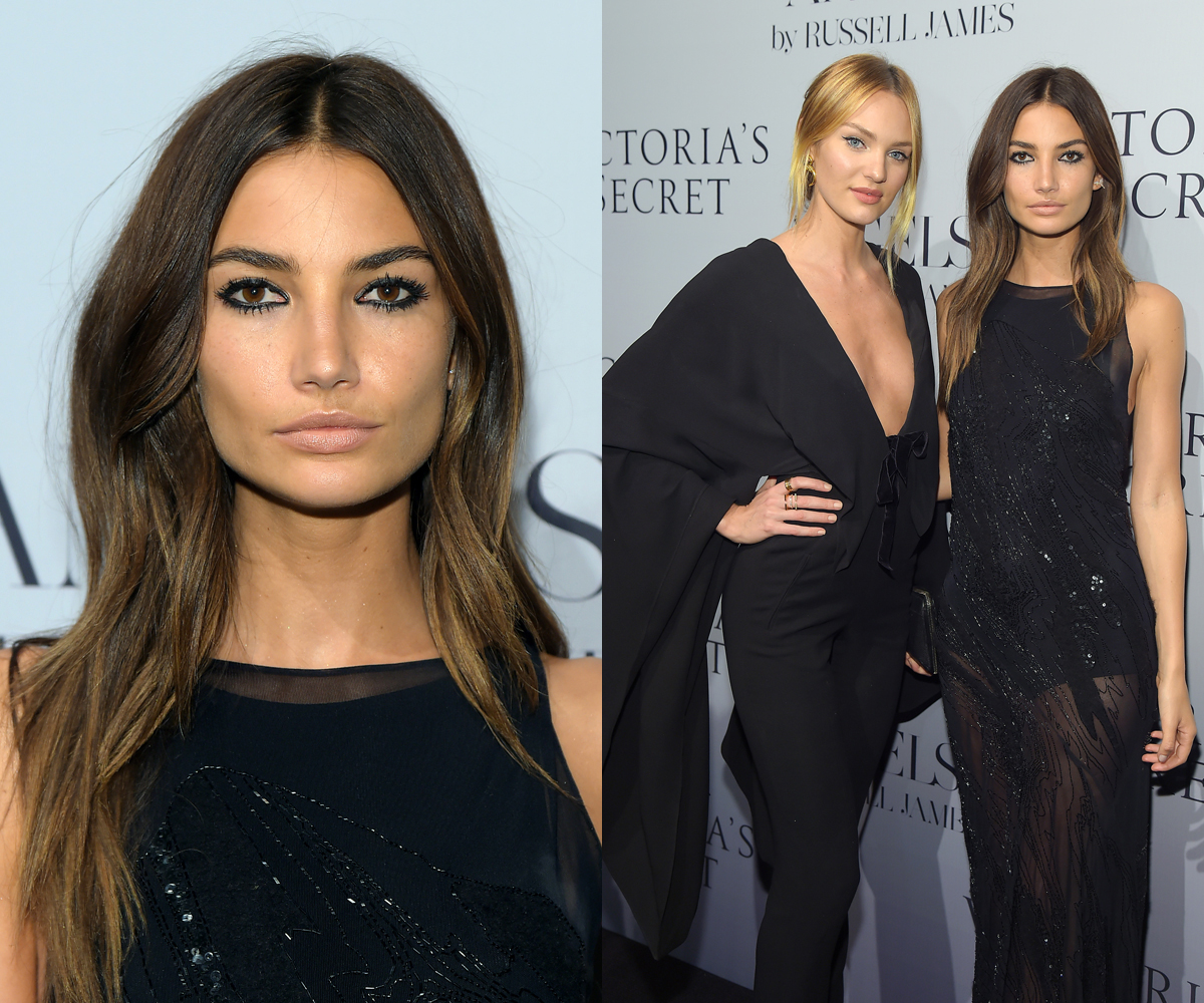 Lily Aldridge with Candice Swanepoel at 'Angels' release party