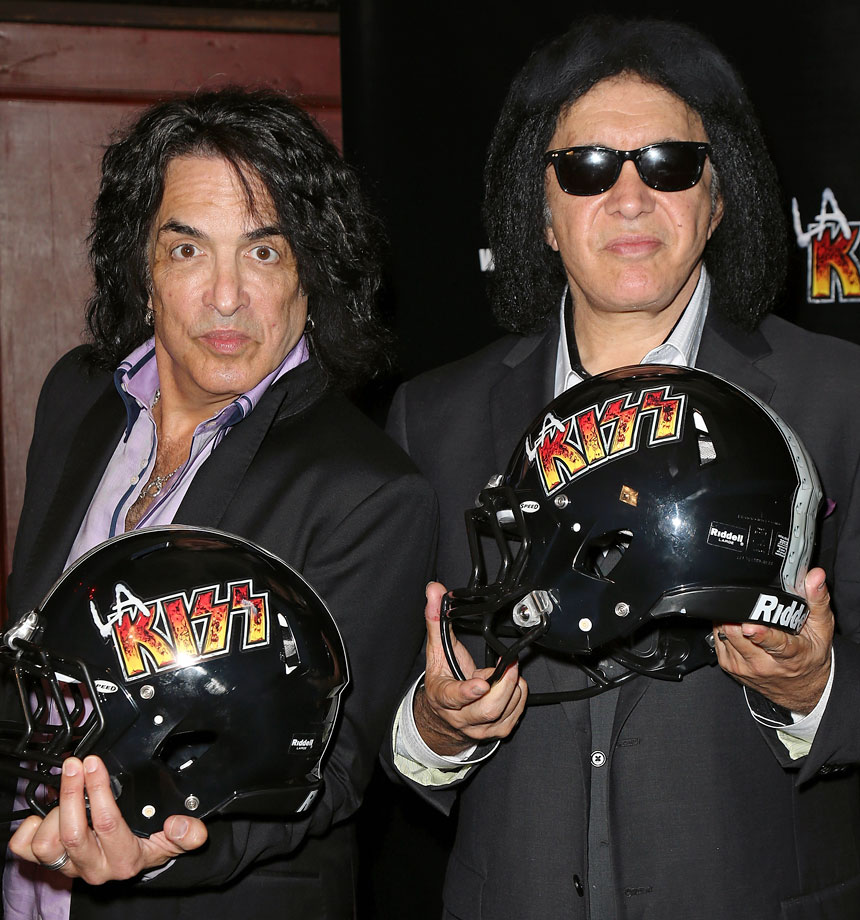 KISS band members Gene Simmons and Paul Stanley are part owners of a Los Angeles-area expansion team in the Arena Football League. The LA KISS began playing their games in Anaheim's Honda Center in April 2014. Simmons and Stanley reportedly became interested in an AFL franchise when league officials began talks with the band to perform at ArenaBowl XXVI, the league's championship game played in Orlando on Aug. 16, 2013.
