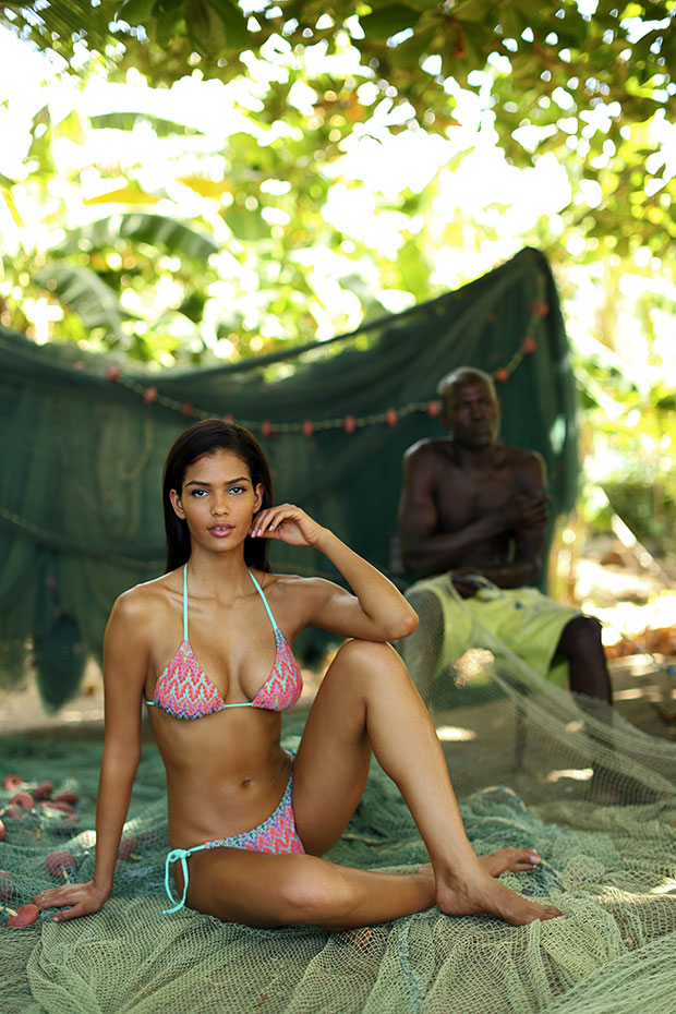 Cris Urena in St. Lucia, SI Swimsuit 2014