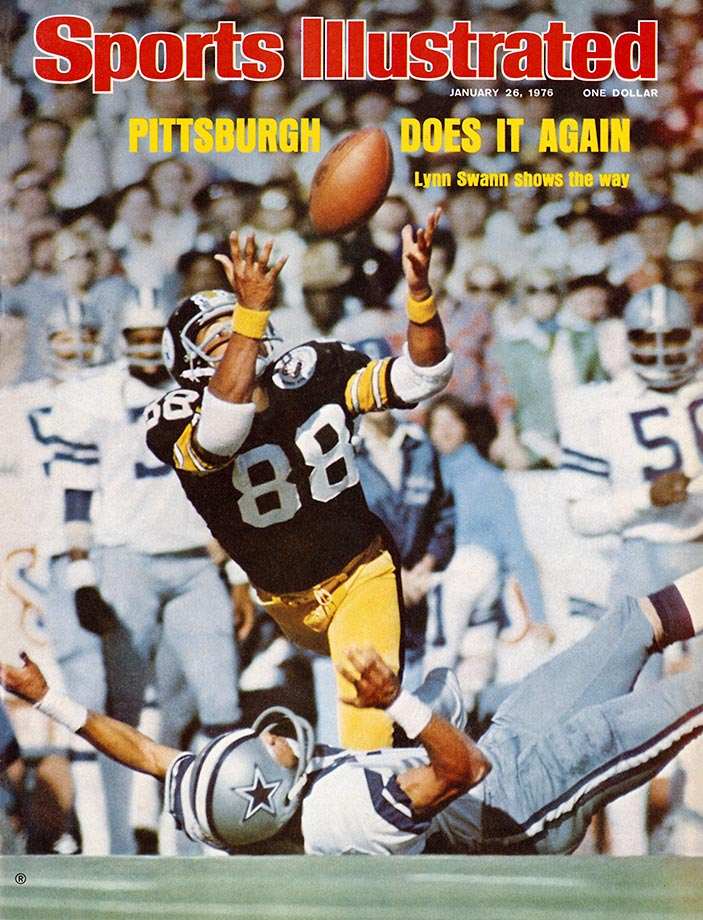 1975: Lynn Swann's juggling 53-yard catch in Super Bowl X vs. Dallas.