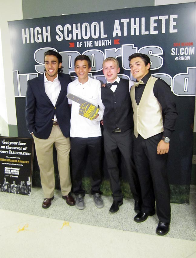 Seneca High students came dressed to the nines for the red carpet event.
