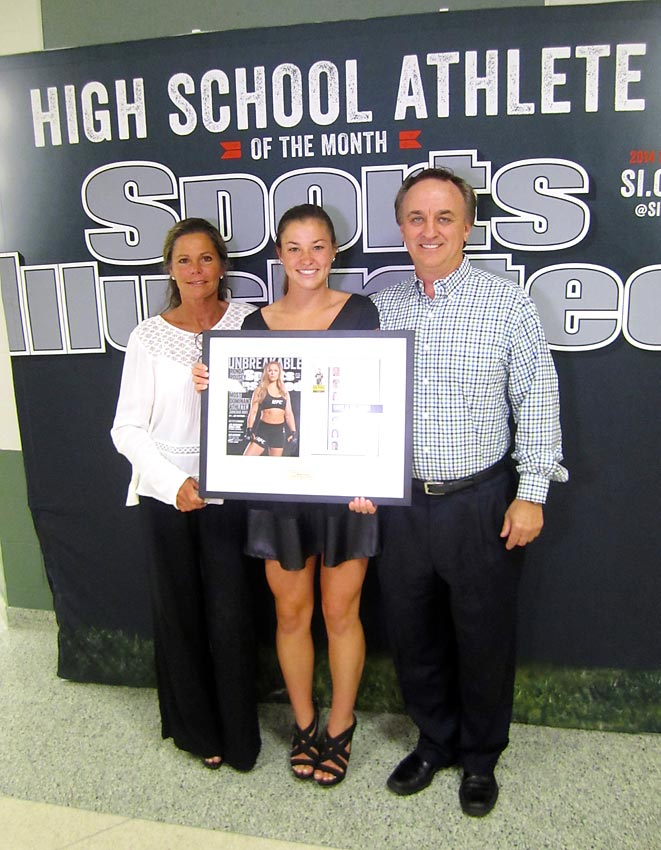 Maddy is flanked by her proud parents, Megan and Paul Schulte. She racked up the accolades at the awards ceremony, also winning Seneca's Fred Rucker Spirit Award, recognizing the athlete who showed an undeniable love for the game, a passion and enthusiasm for their sport and positive attitude at all times.