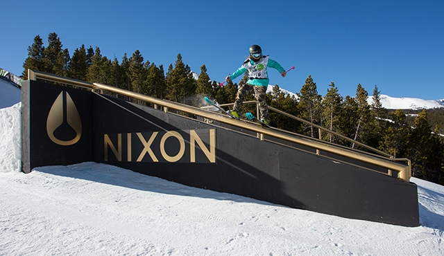Magie Voison in the women's ski slopestyle finals.