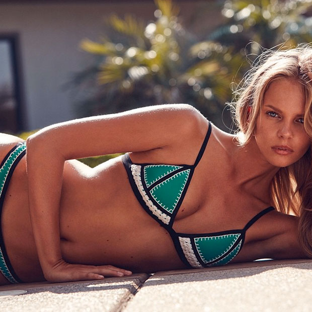 Sprawl Out: Triangl's New Collection The Farrah Crochet + Neoprene Bikini Shot on @marloeshorst wearing 'Wild Thing' Shop the 3 Colors | Online Now