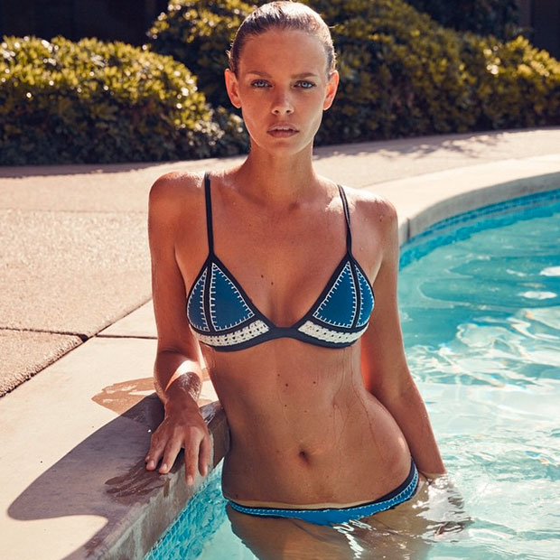 Crochet Neoprene Bikini : Baby: Triangls Latest Collection The Farrah Crochet + Neoprene Bikini ...