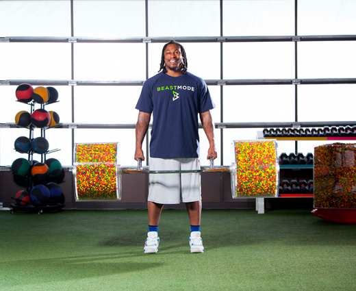 Marshawn Lynch :: Courtesy of Skittles