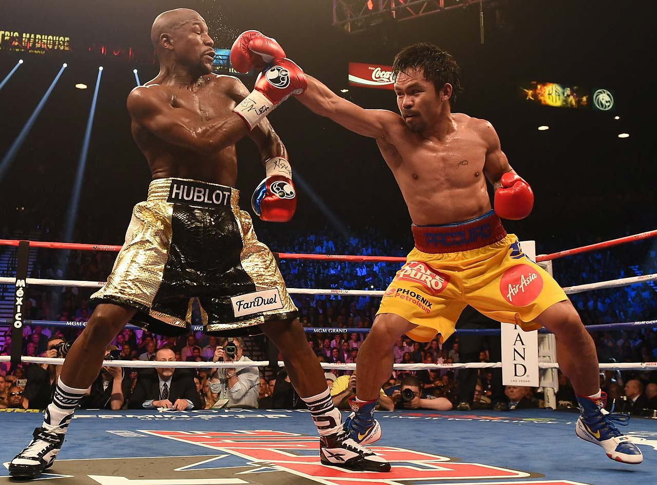 Pacquiao threw far fewer punches than he normally does in a fight, with Mayweather actually throwing more. (Text credit: AP)