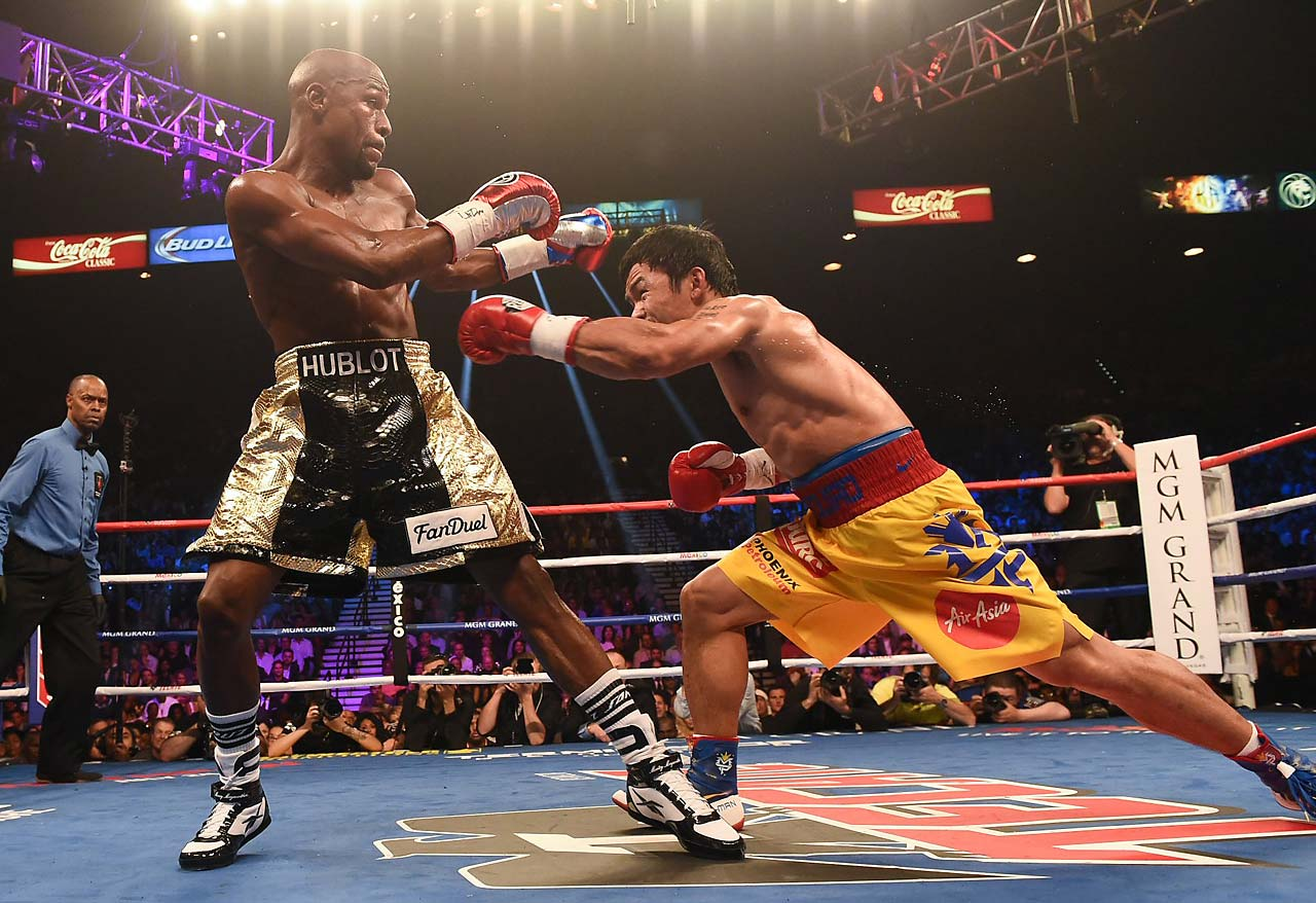 Mayweather fought confidently in the late rounds, winning the last two rounds on all three scorecards. (AP)