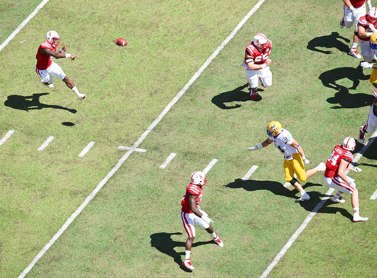 Nebraska quarterback Tommy Armstrong Jr. against McNeese State on Sept. 6.