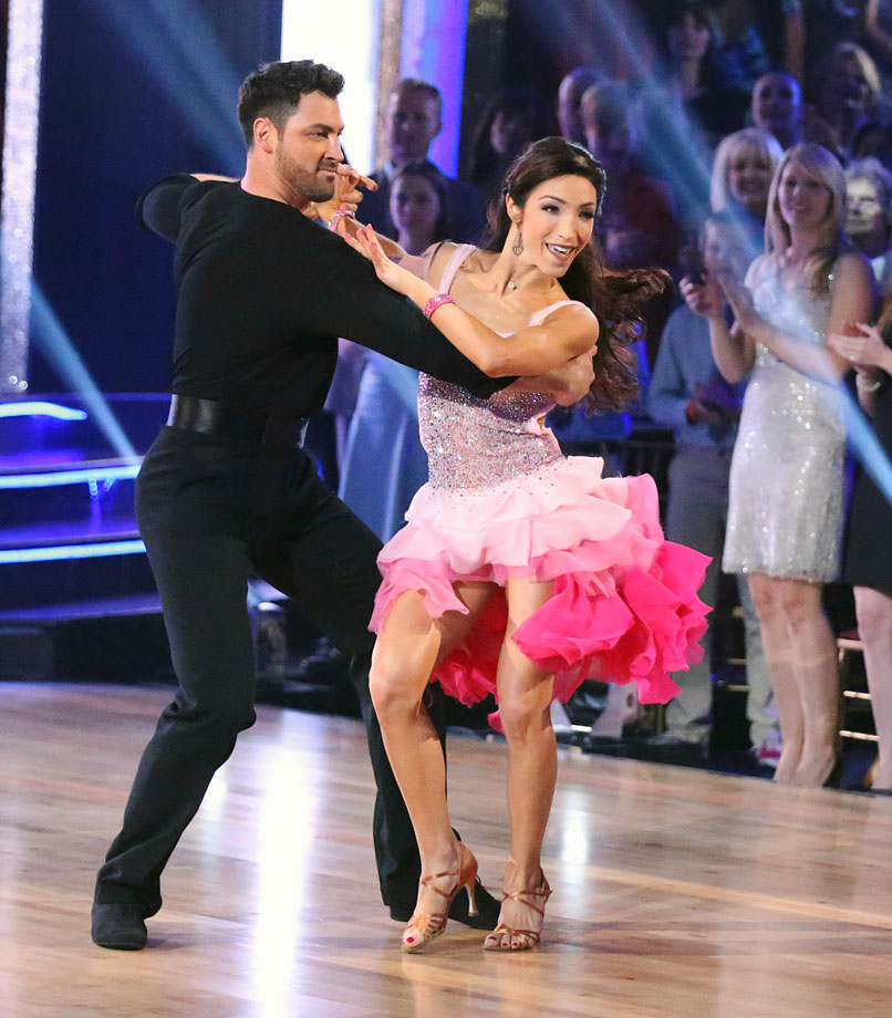 Olympic ice dancer Meryl Davis won 1st place with dancing partner Maksim Chmerkovskiy in Season 18.