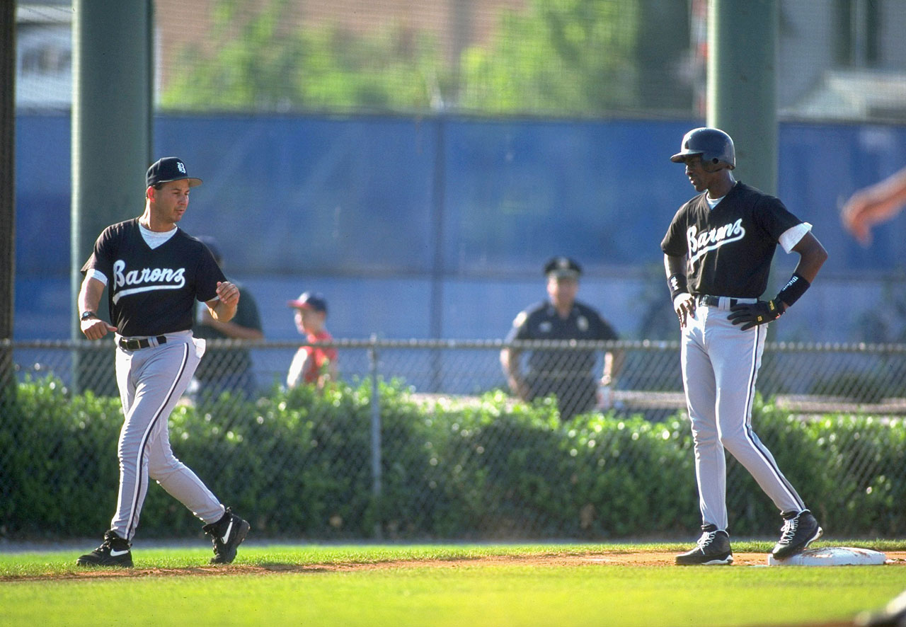 "The 31-year-old Jordan spent the 1994 season playing for the Double A Birmingham Barons under manager Terry Francona. ""Nobody has outworked him,"" Francona said. ""He has the same goal as the other 23 players here. He just wants to get to the big leagues."""