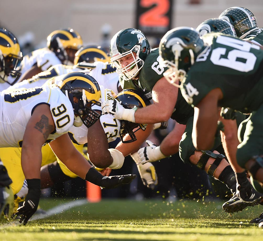 Michigan and Michigan State went head-to-head on Saturday with the Spartans winning in blowout fashion.