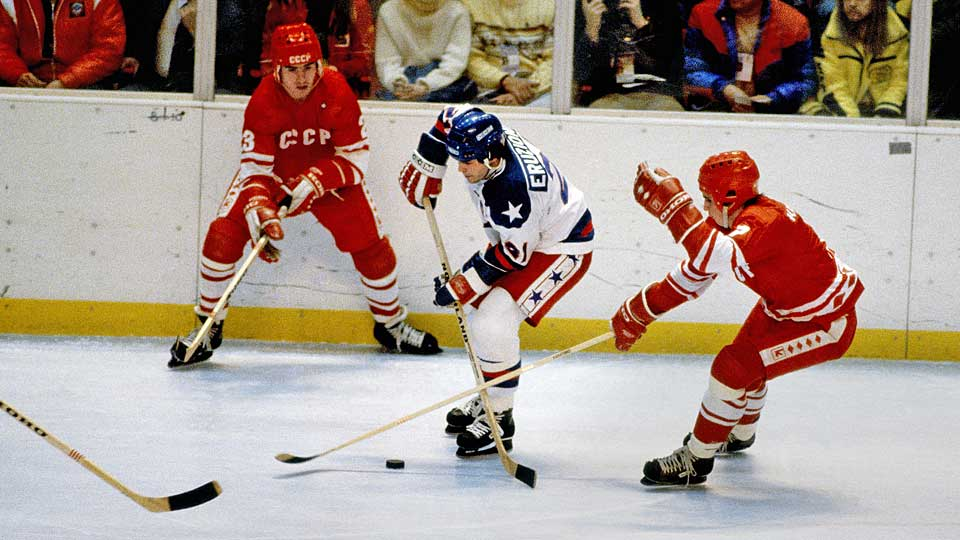 "The ingredients for heroism were all there: the fierce U.S.-Soviet rivalry at a fevered pitch on the world stage as well as the ice, the impassioned crowd singing ""God Bless America,"" and a squad of talented, gritty college kids and amateurs matching the world's best hockey team goal for goal. So it was only fitting that the captain of America's Miracle team would be the one to tally the decisive goal in the now legendary event. Nearly cut by coach Herb Brooks before the tournament, Eruzione, 25, snapped a 3-3 tie in the middle of the third period by cashing in a feed from Mark Pavelich. The former Boston University/IHL forward later turned down offers from NHL teams, concluding his playing career with the gold medal and a common man mystique that has long since vanished from the Olympics."