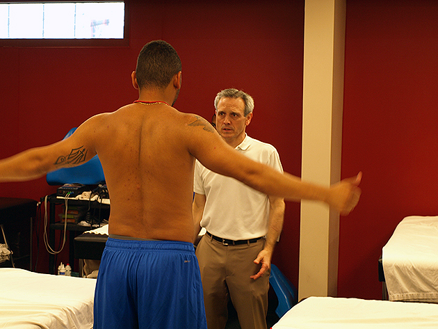Dr. Ciccotti works with players from the Philadelphia Phillies.