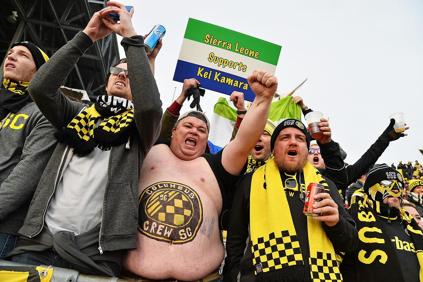 Fans before the 2015 MLS Cup between the Columbus Crew SC and the Portland Timbers.