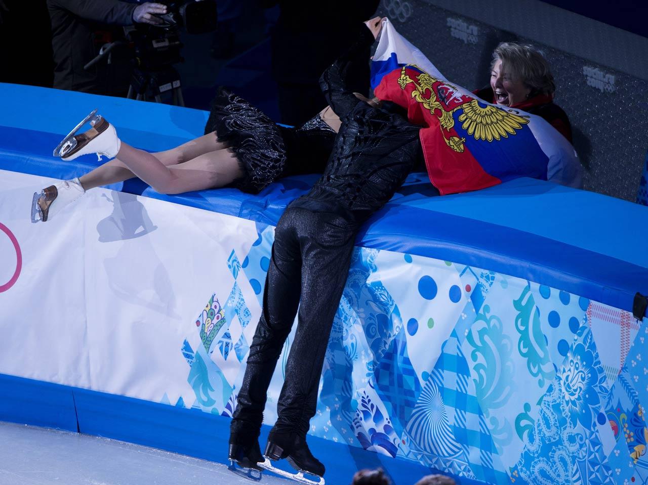 Elena Ilinykh and Nikita Katsalapov of Russia won the bronze medal.