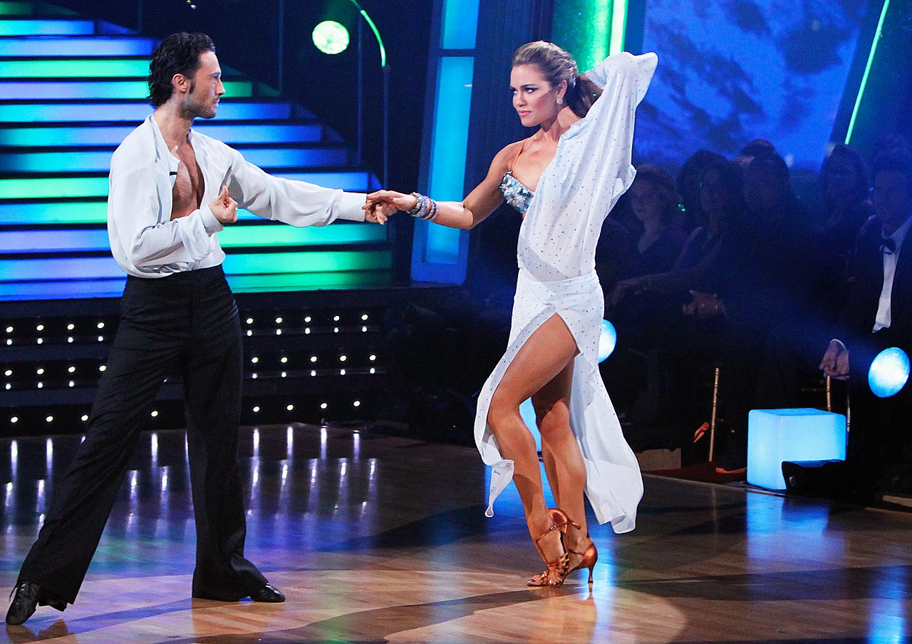 Olympic champion swimmer Natalie Coughlin finished in 10th place with dancing partner Alec Mazo in Season 9.
