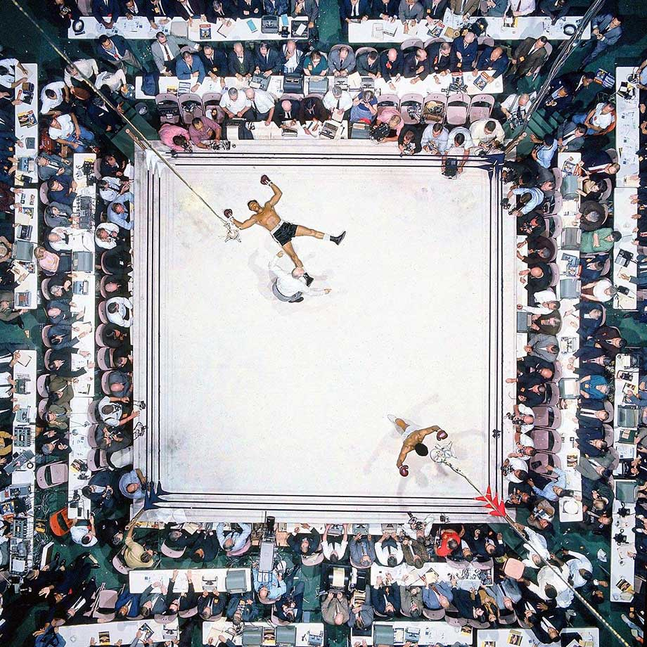 Muhammad Ali's 1966 knockout of Cleveland Williams in front of an Astrodome crowd of 35,460, a record at the time for an indoor fight.