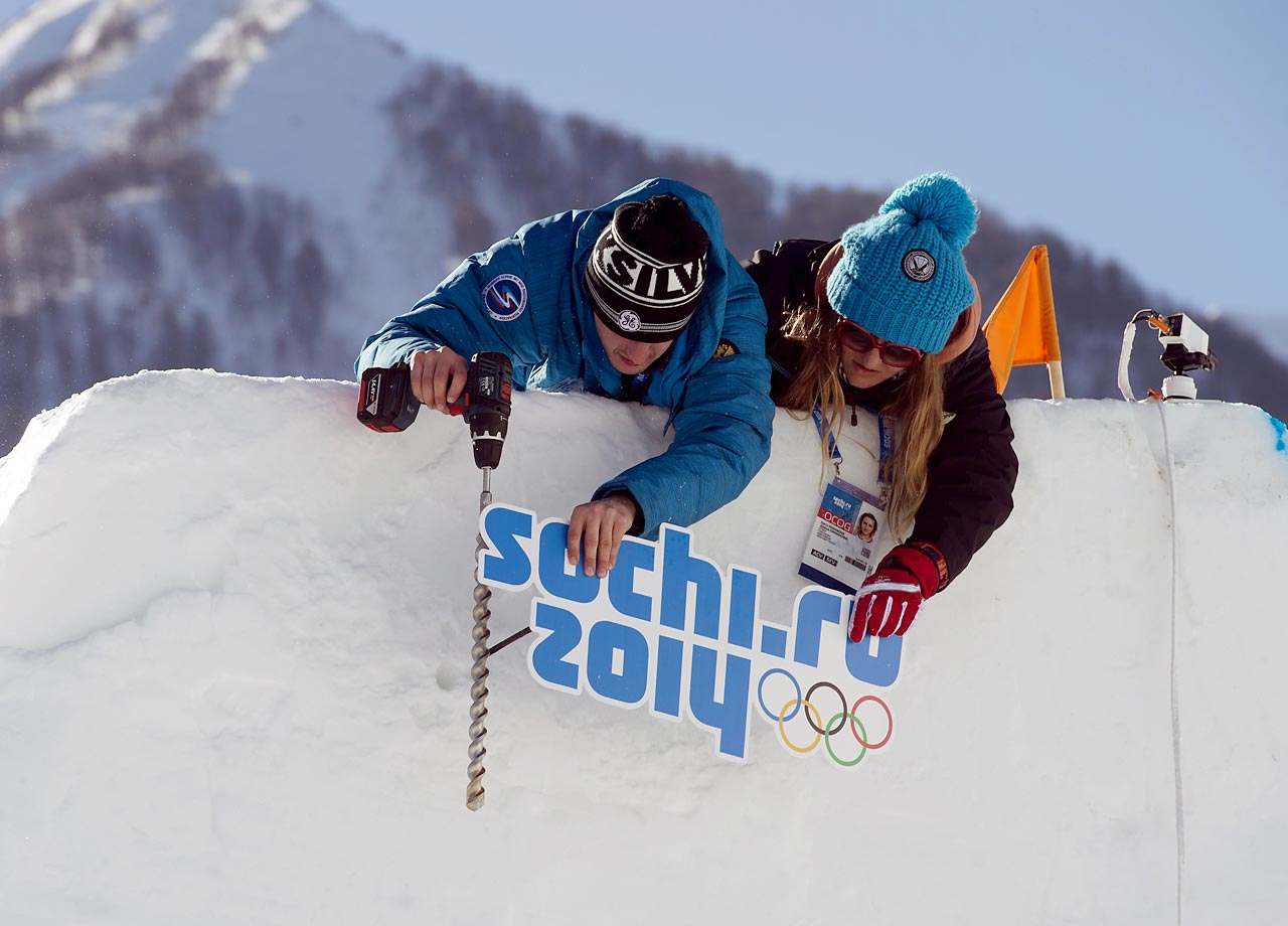 The snowboard slopestyle is a new event at the Winter Olympics.