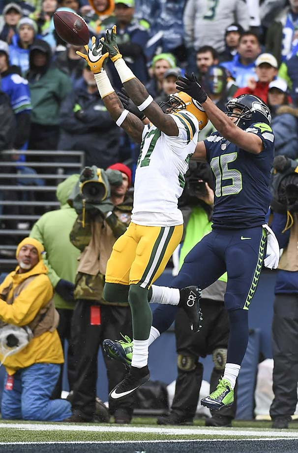 Sam Shields had one of the four interceptions for Green Bay.