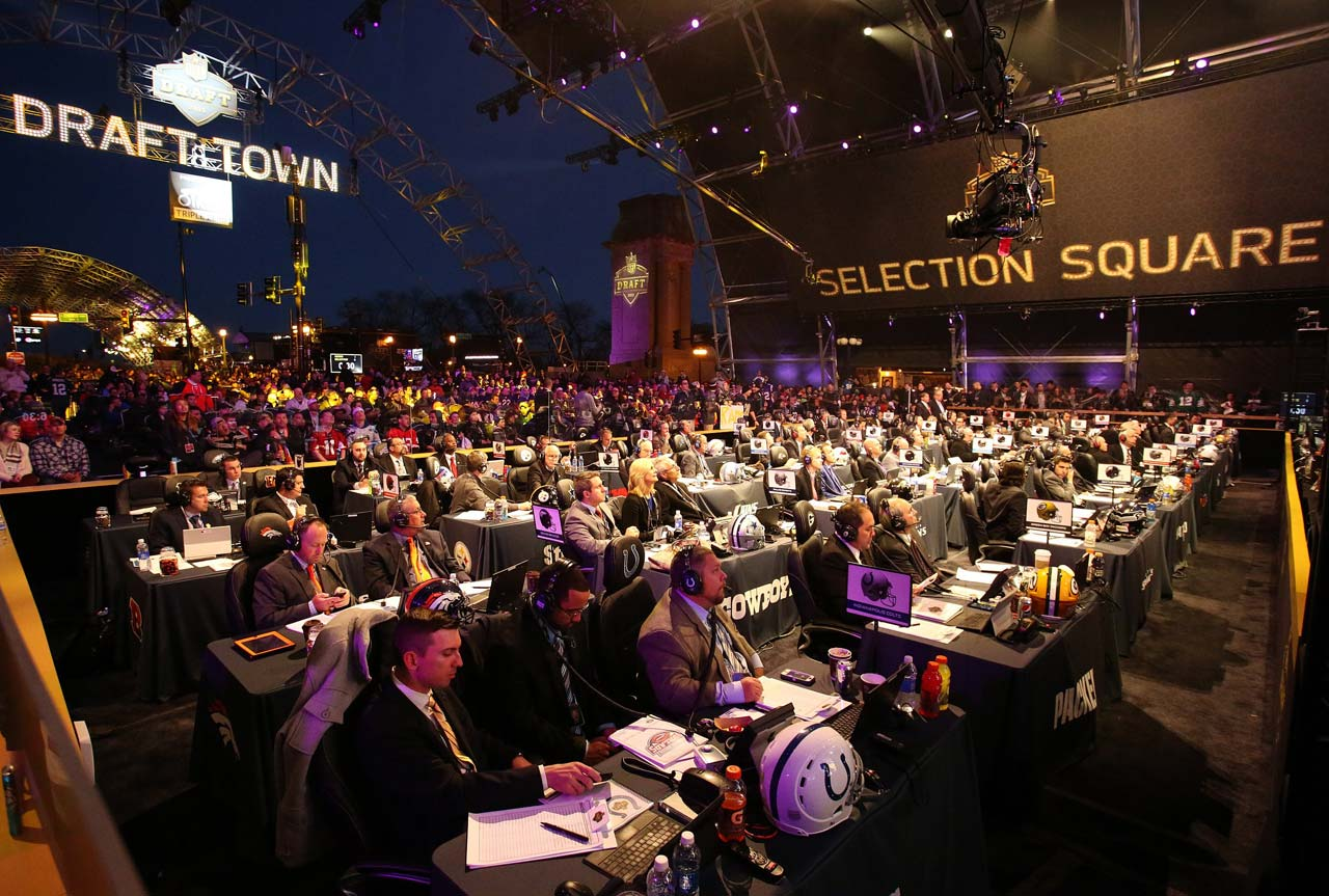 A look at some of the NFL team representatives at the draft.