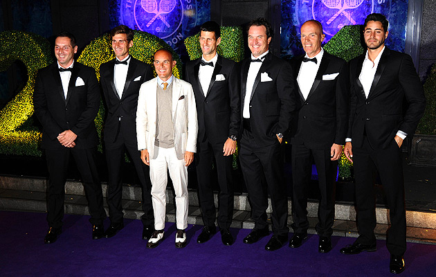 Team Djokovic sure cleans up nicely.