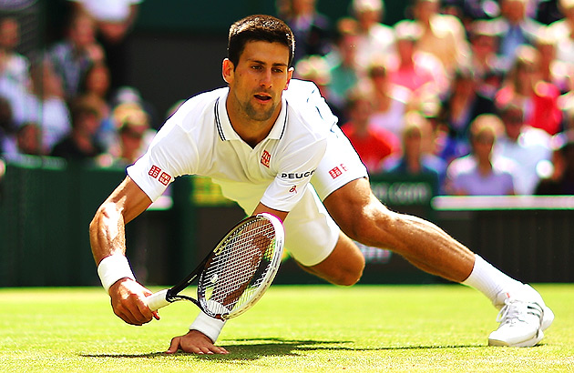 Novak Djokovic took a hard fall against Gilles Simon, but managed to get back up and win the match.