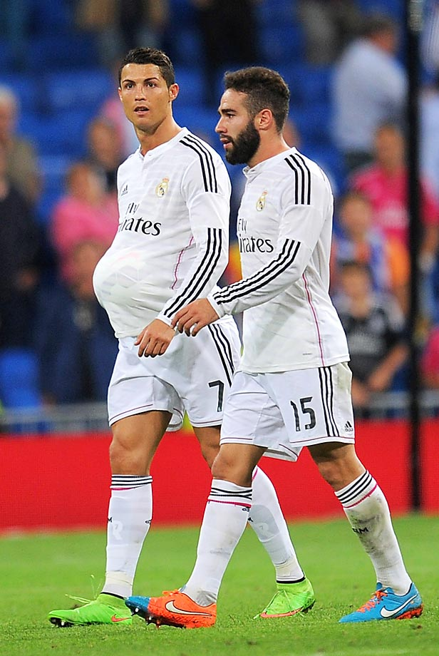 Cristiano Ronaldo looks to be about eight months, this after he scored a hat trick in his team's 5-0 victory over Athletic Club.